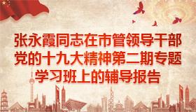 张永霞同志在市管领导干部党的十九大精神第二期专题学习班上的辅导报告