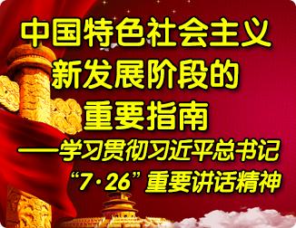 """中国特色社会主义新发展阶段的重要指南——学习贯彻习近平总书记""""7·26""""重要讲话精神"""